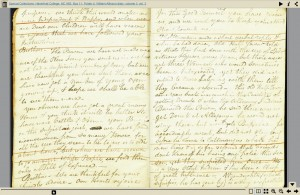 Thumbnail of diary pages; no text alternative