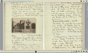 Thumbnail image of an opening of the Mary Worthington diary -- no transcription available.